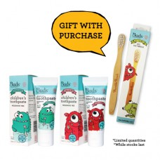 Children's Toothpaste Fluoride Combo Pack 1 - FREE Toothbrush