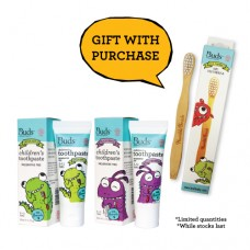 Children's Toothpaste Fluoride Combo Pack 2 - FREE Toothbrush