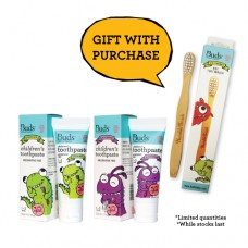 Children's Toothpaste Xylitol Combo Pack 2 - FREE Toothbrush